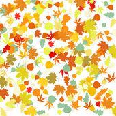 шаблон с осенними листьями. eps 8 — Cтоковый вектор