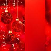 Pozadí s hvězdami a vánoční koule. Eps 8 — Stock vektor