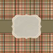 Wallace tartan vintage card background. EPS 8 — Stock Vector
