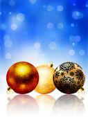 美丽蓝快乐圣诞卡片。8 eps — 图库矢量图片