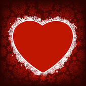 Christmas card - frame  heart. EPS 8 — Stock Vector