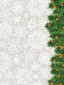 エレガントなクリスマスありがとうカード。eps 8 — ストックベクタ