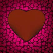 Red Valentines day background with hearts. EPS 8 — Stockvektor