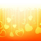 Warm abstract valentine card template. EPS 8 — Vector de stock