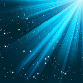 Modré světelné paprsky. Eps 8 — Stock vektor