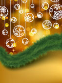 Elegant golden christmas background. EPS 8 — Vector de stock