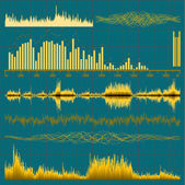 Sound waves set. Music background. EPS 10 — Stock Vector