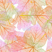 Detailed leaves seamless background. EPS 10 — Stock Vector