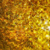 Design on gold glittering background. EPS 10 — Stockvector