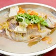 Fish. steamed fish chinese asia style — Stock Photo #30600949