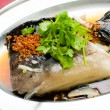 Fish. steamed fish chinese asia style — Stock Photo