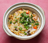 Noodle. rice noodles soup with chicken and vegetable — Stok fotoğraf
