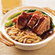 Stock Photo: Duck noodle. food asia