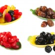 Dried fruits on background — Stock Photo