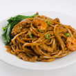 Noodles. stir-fried noodles with chicken — Stock Photo #31909871