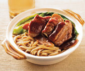 Duck noodle. food asia — Stock Photo