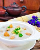 Porridge, Porridge (congee) served in claypot — Stock Photo