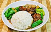 Chinese food Mutton rice — Stock Photo