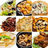 Collection chinese asian food — Stock Photo