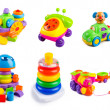 Toys collection on the white background — Stock Photo