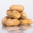 Nuts on the white isolated background — Foto de Stock