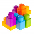 Plastic building blocks on background — Stock Photo