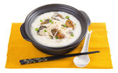 Dried oysters porridge rice gruel — Stock Photo