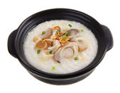 Abalone porridge rice gruel — Stock Photo