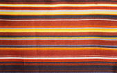 Textured Striped Cotton Fabric Swatch — 图库照片