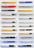 Pens collection isolated on white background — Stock Photo