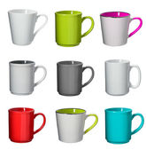 Cup collection on background — Stock Photo