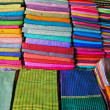 Stock Photo: Silk scarfs on background