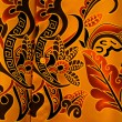 Stock Photo: Batik on background