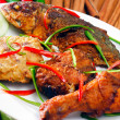 Asia food and grilled food malaysia — Stockfoto