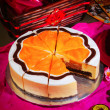 Chinese new year orange cake — Stock fotografie
