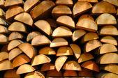 Lumber. Wood stacked — 图库照片