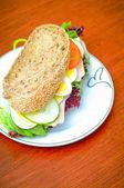 Sandwich. sandwich on background — Stock Photo