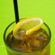 Stock Photo: Ice lemon tea, drink, on white background