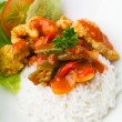 Pork sweet and sour pork saia food. — Stockfoto
