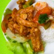 Pork sweet and sour pork saia food. — 图库照片