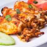 Squid, Grilled Squid asia food — Stock Photo