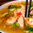 Rice Noodles sea food and Vegetables — 图库照片