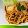 Noodles on background asia food. — 图库照片