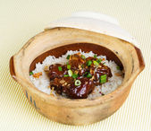 Claypot chicken rice. asia food — Stock Photo