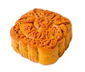 """Mooncake, die chinesischen Wörter auf dem Mooncake ist """"Zutat"""", kein Logo oder eine Marke. — Stockfoto"""