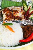 Asia food and grilled food malaysia — Stock Photo
