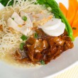 Rice noodle on background — Stockfoto