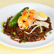 Noodles. stir-fried noodles with chicken — Stock Photo #35007197