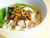 Noodle Soup and asia food — Stock Photo