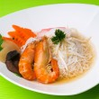 Prawn noodle - Malaysian food — Stock Photo